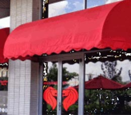 Mái xếp quán cafe giá tốt