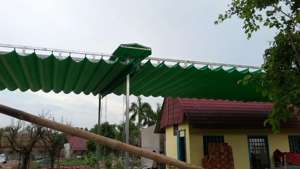 Các loại mái xếp cho nhà để xe