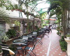 Mái che quán cafe sân vườn đẹp