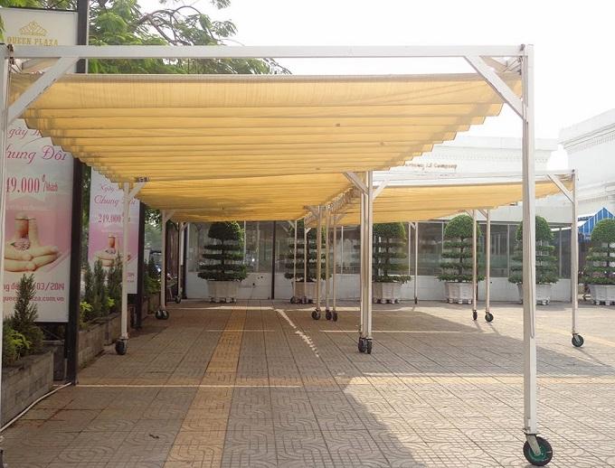 Lắp đặt mái xếp di động tại Đà Nẵng trong tháng 10
