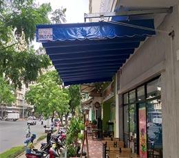 Công trình lắp mái hiên mái che quán cafe, cửa hàng vỉa hè 2021