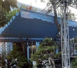 Lắp mái che cho sân vườn quán bia tiger rất hài hòa, đẹp tại bình thạnh
