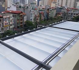 Mái hiên nhà màu trắng sang trọng thích hợp quận 6 tphcm