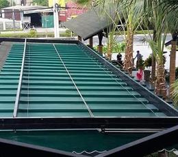 Lắp đặt mái xếp mái hiên che khu nghỉ dưỡng quận 9 tphcm