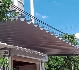 Lắp mái hiên mái xếp di động cho nhà ở 3 lầu quận 8 tphcm