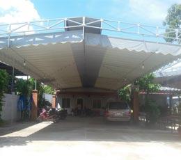 Mái che mưa nắng nhà xe